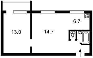 Квартира Коновальца Евгения (Щорса), 15 корпус 3, Киев, Z-364390 - Фото2