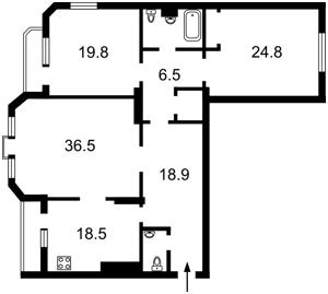 Квартира Коновальця Євгена (Щорса), 32г, Київ, Z-501661 - Фото2