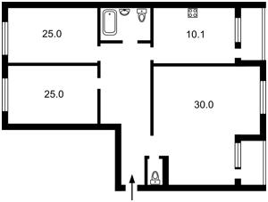 Квартира Лобановського просп. (Червонозоряний просп.), 14, Київ, G-27029 - Фото2