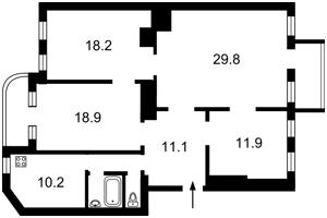 Квартира Котарбинского Вильгельма (Кравченко Н.), 21, Киев, R-14206 - Фото2