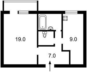 Квартира Тютюнника Василия (Барбюса Анри), 56, Киев, Z-487302 - Фото2