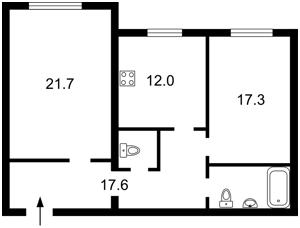 Квартира Пушиної Ф., 19, Київ, Z-906982 - Фото2