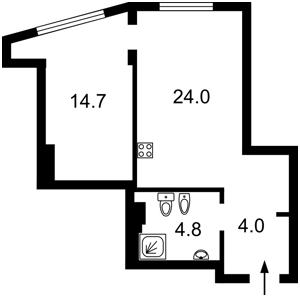 Квартира Білоруська, 36а, Київ, Z-512618 - Фото 2