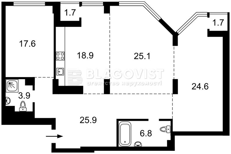 Квартира C-106183, Болсуновская (Струтинского Сергея), 2, Киев - Фото 6