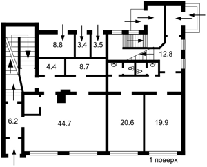 Окремо розташована будівля, Хорива, Київ, A-109946 - Фото