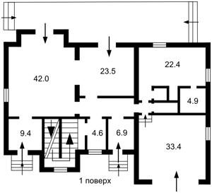 Будинок Горького, Богданівка (Броварський), M-34698 - Фото2