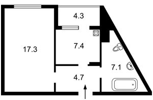 Квартира Ломоносова, 85а, Киев, Z-462739 - Фото2