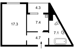 Квартира Ломоносова, 85б, Київ, Z-495091 - Фото2