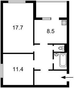 Квартира Ахматовой, 16г, Киев, Z-503194 - Фото2