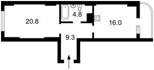 Квартира Народного Ополчення, 7, Київ, Z-368166 - Фото2