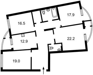 Квартира Днепровская наб., 25, Киев, Z-503178 - Фото2