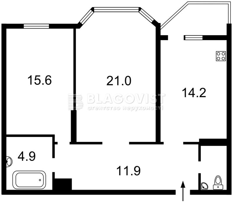 Квартира Z-202660, Закревського М., 95а, Київ - Фото 5