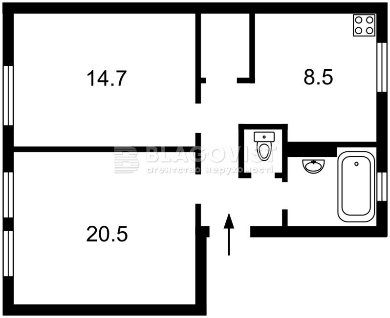 Квартира B-76655, Винниченка Володимира (Коцюбинського Юрія), 20, Київ - Фото 4