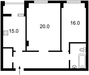 Квартира Глушкова Академіка просп., 9е, Київ, Z-509660 - Фото 2