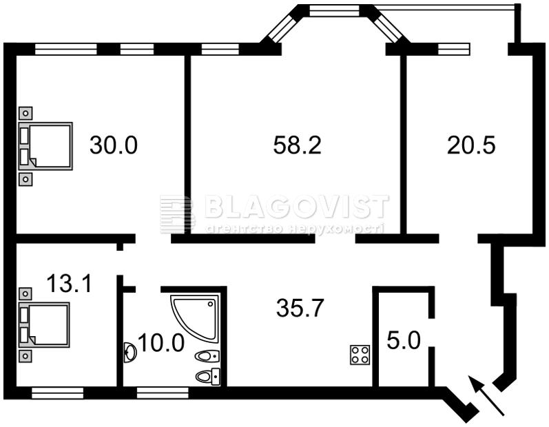 Квартира C-106134, Емельяновича-Павленко Михаила (Суворова), 14/12, Киев - Фото 4