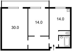 Квартира Бальзака Оноре де, 6, Киев, Z-486346 - Фото2