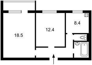 Квартира Драгоманова, 23а, Киев, Z-510356 - Фото2