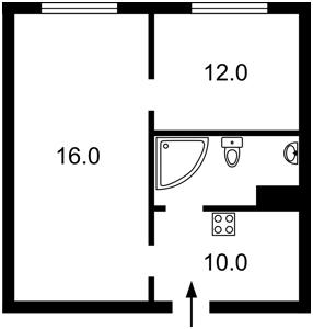Квартира Ахматової Анни, 22, Київ, Z-265013 - Фото2