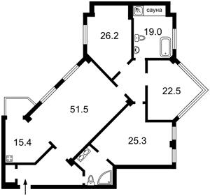 Квартира Лєскова, 1а, Київ, Z-501333 - Фото2