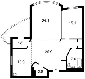 Квартира Героев Сталинграда просп., 12е, Киев, C-65018 - Фото2