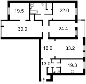 Квартира Драгомирова, 4, Київ, Z-502193 - Фото2