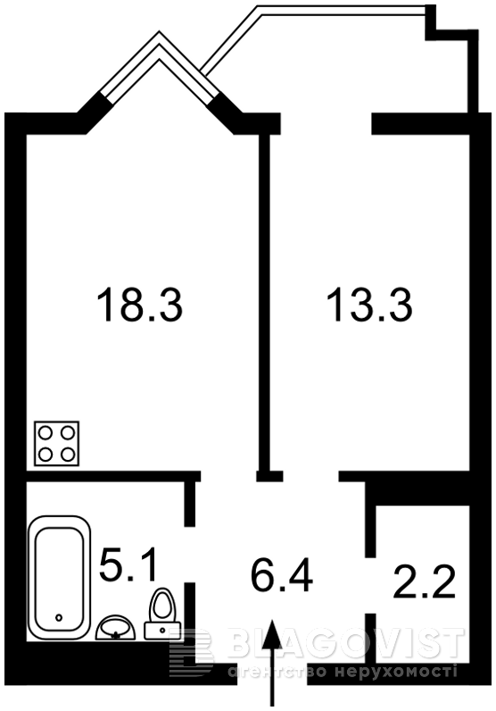 Квартира H-44047, Саперное Поле, 14/55, Киев - Фото 6