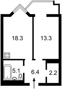 Квартира Саперное Поле, 14/55, Киев, Z-422238 - Фото2