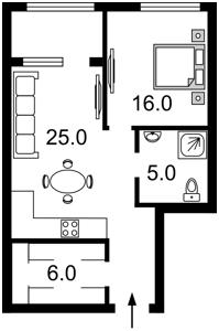 Квартира Деловая (Димитрова), 1/2, Киев, C-106333 - Фото 2