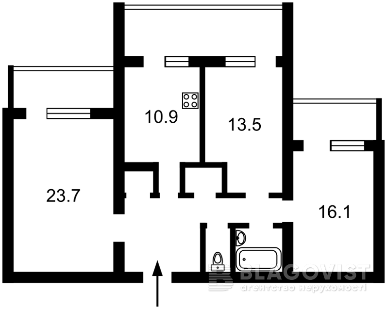 Квартира R-12990, Верхняя, 3, Киев - Фото 4