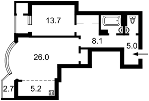 Квартира Харківське шосе, 182, Київ, Z-491601 - Фото2