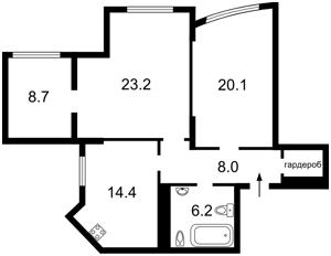 Квартира Дмитрівська, 80, Київ, Z-28945 - Фото2