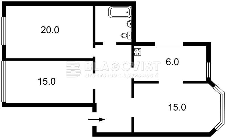 Квартира Z-67705, Мазепы Ивана (Январского Восстания), 4/6, Киев - Фото 4