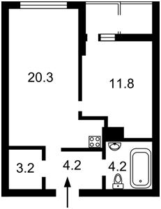 Квартира Бендукідзе Кахи, 2, Київ, Z-514941 - Фото 2