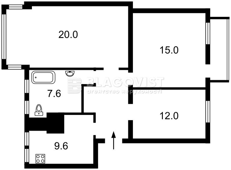 Квартира E-38100, Толстого Льва, 15, Киев - Фото 2