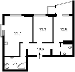 Квартира Червоноткацька, 43, Київ, F-41555 - Фото 2