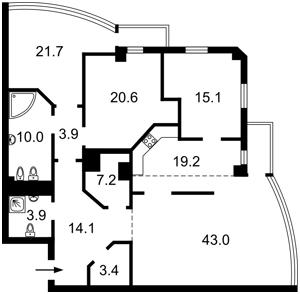 Квартира Хмельницкого Богдана, 41, Киев, C-77006 - Фото2