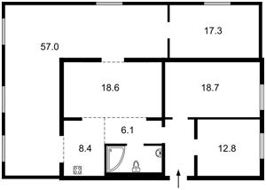 Квартира Корчака Януша (Баумана), 24/1, Київ, M-34971 - Фото2