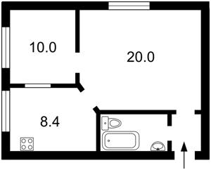 Квартира Деловая (Димитрова), 6, Киев, E-38431 - Фото 2