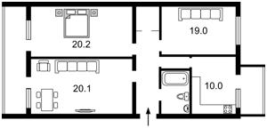 Квартира Франка Івана, 3, Київ, Z-363044 - Фото2