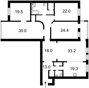 Квартира Драгомирова Михаила, 4, Киев, Z-502193 - Фото2