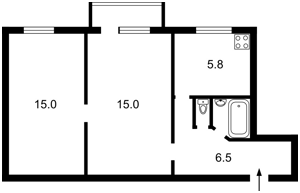 Квартира Кловський узвіз, 12, Київ, X-25553 - Фото2