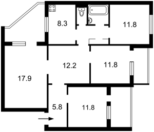 Квартира Срибнокильская, 8а, Киев, Z-416001 - Фото2