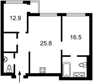 Квартира Драгомирова, 20, Київ, Z-744931 - Фото2