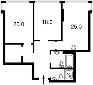 Квартира Саксаганского, 37к, Киев, M-35009 - Фото 2