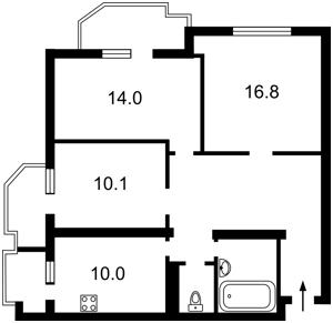 Квартира Драгоманова, 15а, Київ, Z-1074283 - Фото2
