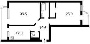 Квартира Коновальця Євгена (Щорса), 32б, Київ, A-84378 - Фото 2