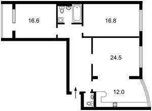 Квартира Касияна Василия, 2/1, Киев, Z-534574 - Фото2