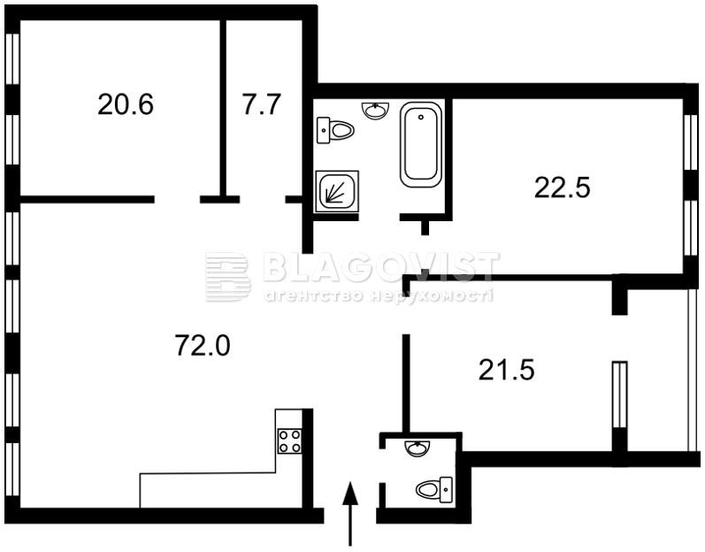 Квартира M-35070, Панаса Мирного, 12, Киев - Фото 6