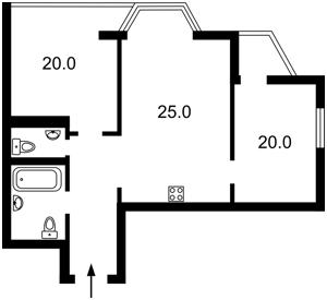 Квартира Липківського Василя (Урицького), 37в, Київ, C-106486 - Фото2