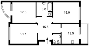 Квартира Чорновола Вячеслава, 29а, Київ, F-41671 - Фото2